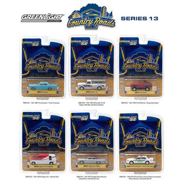 Country Roads - Release 13, 6pc Diecast Car Set 1-64 by Greenlight