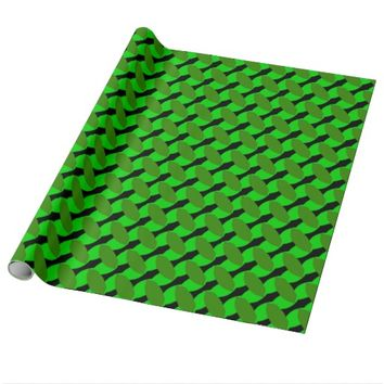 Green Leaf Geometric Wrapping Paper