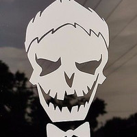 Car Window Laptop Tablet Decal Joker White Suicide Squad Inspired  Sticker
