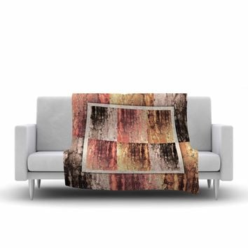 "Nina May ""Tavertina Earth"" Brown Coral Digital Fleece Throw Blanket"
