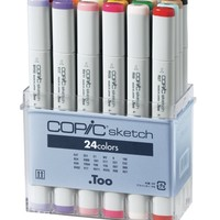 Copic Markers 24-Piece Sketch Set, Basic