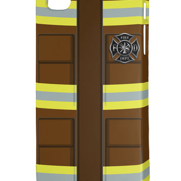 Firefighter Brown AOP iphone 4 Plastic Case All Over Print