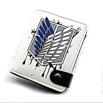 Cool Attack on Titan  no  Scouting Legion Recon Corps Unisex Boys Girls Short Wallet Fairy Tale One Piece Gift AT_90_11