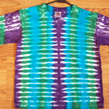Kids Tie Dye Shirt- XS S M L- Cool Stripes Tie Dye