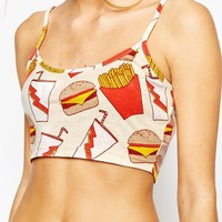 Minkpink Fries Before Guys Bralette Crop Top