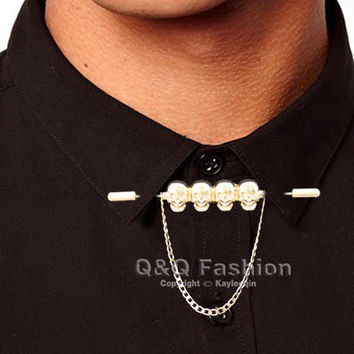 Shop mens tie chains on wanelo for Tie bar collar shirt