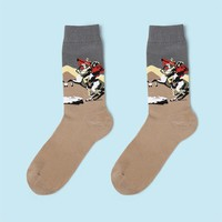 Napoleon Crossing the Alps Sock