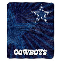 Dallas Cowboys NFL Sherpa Throw (Strobe Series) (50in x 60in)