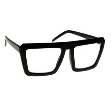 NWT Retro Flat Top Clear Lens Glasses Oliver Bold Rimmed Square Frame