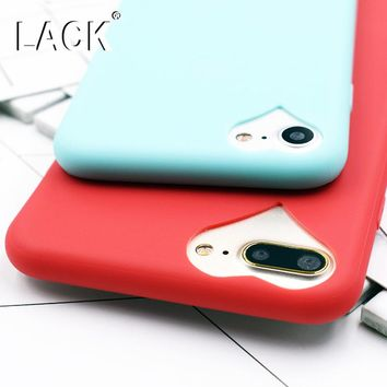 Newest Lovely Candy TPU Soft Case For iphone 7 Case For iphone7 7 Plus phone Cases Protective Back Cover Cute Loving Heart Coque