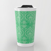 Simple Ogee Green Travel Mug by Aimee St Hill