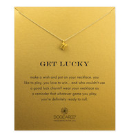 Get Lucky Dice Necklace, Gold Dipped | Dogeared