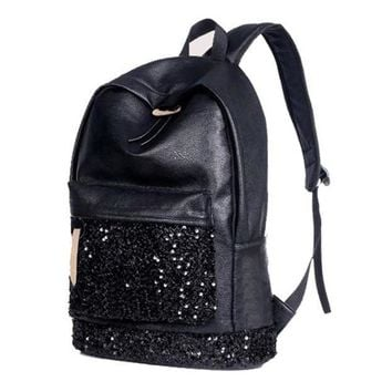 Fashion Women Backpack Big Crown Embroidered