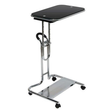 Calico Designs Laptop Cart with Mouse Pad - Chrome