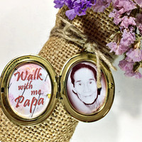 customized memorial locket for wedding bouquet or boutonniere