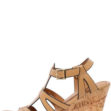 Sea Star Tan Wedge Sandals
