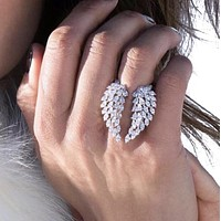 Angel wings Promise 925 Sterling Silver Ring