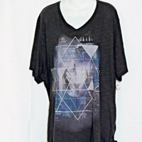 Just My Size Plus Size 5X Tee Shirt Black New