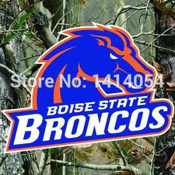 Boise State Broncos real tree camo Flag150X90CM NCAA 3X5FT Banner 100D Polyester grommets custom009, free shipping