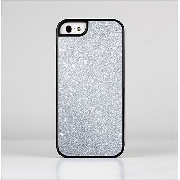 The Silver Sparkly Glitter Ultra Metallic Skin-Sert for the Apple iPhone 5-5s Skin-Sert Case