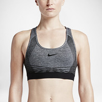The Nike Pro Hyper Classic Padded Flock Women's Sports Bra.