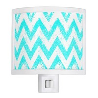 mint chevron night light