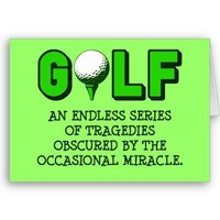 THE DEFINITION OF GOLF GREETING CARDS from Zazzle.com