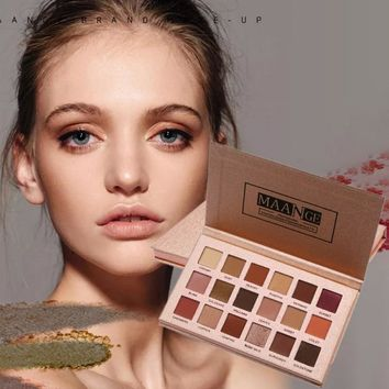 MAANGE 18 Colors Beauty Make Up Shimmer Eyeshadow Palette Long Lasting Matte Eye Shadow Makeup Palette Cosmetics New Arrival