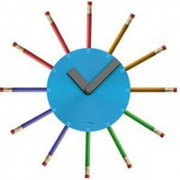 Pencil Wall Clock