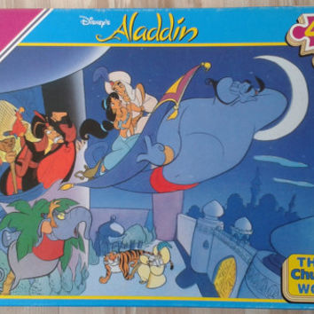 Vintage Falcon Wooden Jigsaw, Alladin, 40 Thick Chunky  Pieces , unused puzzles