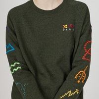 Kenzo Symbols Embellished Molleton Sweatshirt - WOMEN - JUST IN - Kenzo - OPENING CEREMONY