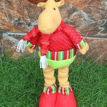 Christmas Gift Party Decorative Stretched Deer Puppet Toy