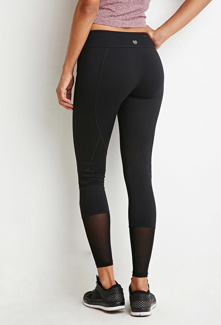 bc23eebe01af7 Mesh-Ankle Athletic Leggings from Forever 21