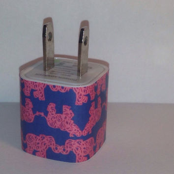 Lilly Pulitzer Inspired Pack Your Trunk USB Iphone Wall Charger