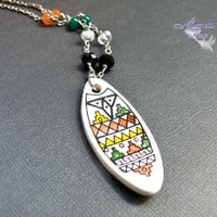 Hawaii Surfboard Necklace - Hawaiian jewelry for surfers from North Shore, Oahu by Mermaid Tears