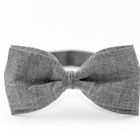 Bow Tie by BartekDesign Dark Gray Cotton Wedding