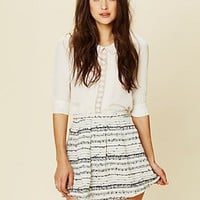Free People Ribbon Fit and Flare Mini Skirt