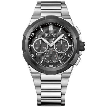 HUGO BOSS BLACK 1513359 Mens Chronograph Watch w/ Date