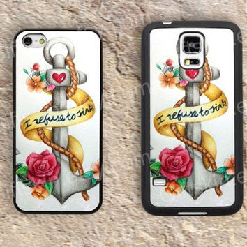 Anchor case heart  flowers  iphone 4 4s iphone  5 5s iphone 5c case samsung galaxy s3 s4 case s5 galaxy note2 note3 case cover skin 121