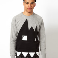 Le Fix Crew Neck Sweatshirt Kaj Head