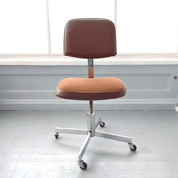 Vintage, Mid Century Modern, Desk Chair, Office Chair, Rolling, Industrial, Global Upholstery, Co. Ltd., RhymeswithDaughter