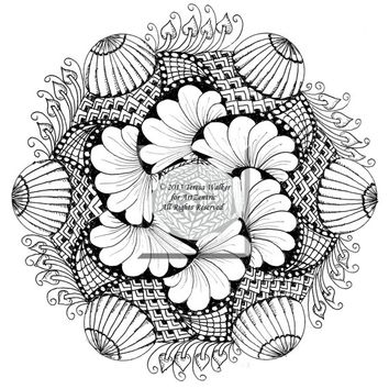 Intricate Colouring Sheet Zen Doodle Instant Download pdf Abstract Art Zentangle Inspired.