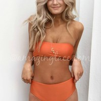 Catching Rays Rust Bandeau Bikini Set