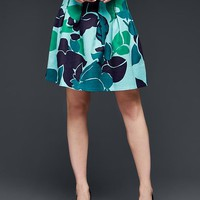 Gap Women Pleated Floral Print Skirt