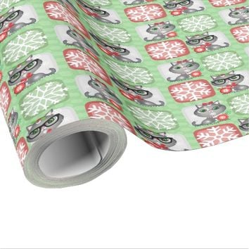 Custom Christmas Cat Couple Wrapping Paper