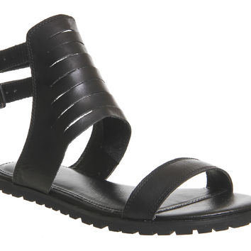 KDB Orlinda Sandals Black Leather - Sandals