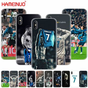 HAMEINUO cristiano ronaldo wallpaper 2018 cell phone Cover case for iphone X 8 7 6 4 4s 5 5s SE 5c 6s plus