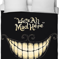 """""""we're All Mad Here"""" Duvet Cover"""