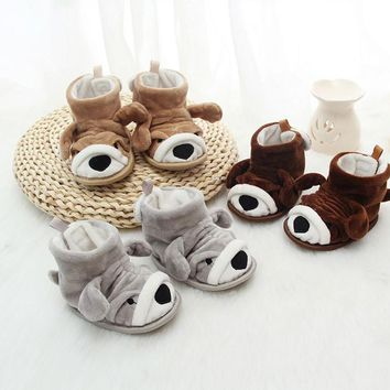 Baby Girl Boy Soft Cartoon Design Boots Toddler Warming Crib Shoes Snow Boots thermal home shoes Children Slippers