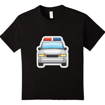 Police Car Emoji T-Shirt Siren Officer Policeman Emoticon